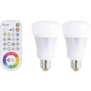 JEDI LIGHTING 2 ampoules couleur changeante bulbe LED iDual, 11.5W, JEDI, E27 + télécommande