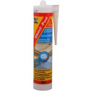 Sika Mastic silicone neutre pour joints de piscine blanc cartouche de 300 ml