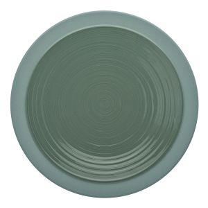 Guy Degrenne Assiette plate ronde 26cm vert argile en grès - A l'unité - Bahia