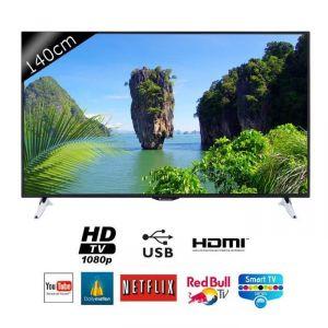 continental edison 55s0116b3 t l viseur led 140 cm smart tv full hd comparer avec