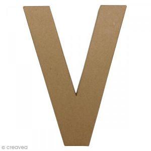 decopatch AC415O - Lettre V fantaisie majuscule, en papier mâché