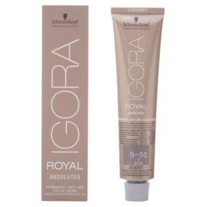 Schwarzkopf Igora Royal Absolutes 5-50 Coloration crème permanente anti-âge Châtain clair doré naturel 60g