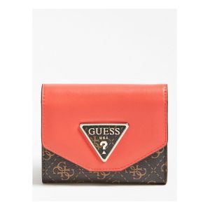 Guess Maddy - Portefeuille logo 4G - marron
