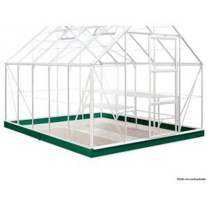 Juliana SO8629 - Embase pour serre Supreme laqué vert de 8.3m²