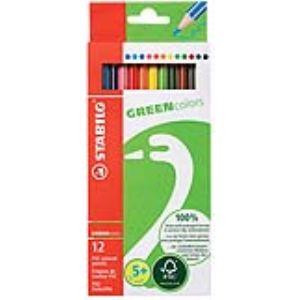 Stabilo 12 Crayons de couleur Greencolors assortis