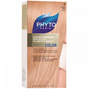 Phyto Paris Phytocolor 9 Blond Très Clair - Coloration soin permanente haute brillance
