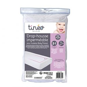 Tinéo Drap-housse imperméable pour matelas Baby Protect 60 x 120 cm