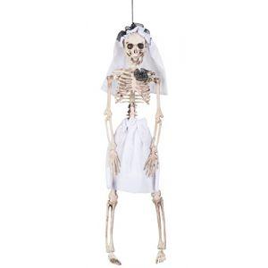 Décoration à suspendre squelette mariée Halloween 40 cm