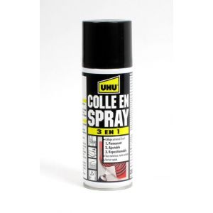 UHU Colle universelle en spray 3 en 1 : permanent, ajustable, repositionnable - 200ml