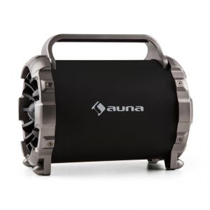 Auna Blaster M - Enceinte portable Bluetooth LED FM
