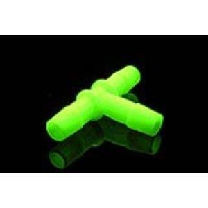 Primochill F-B12-T-BG - Raccord plastique en T cannelé 3 tubes 13mm (DI 1/2'') UV Vert
