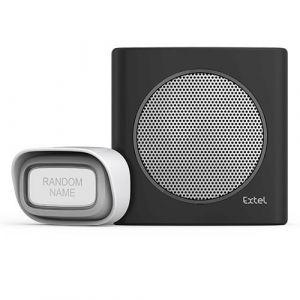 Extel Carillon sans fil avec portée de 200m et 6 sonneries au choix diBi Flash Soft - Noir
