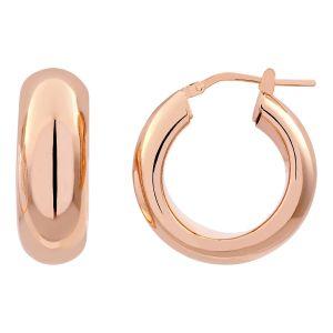 Cleor Boucles oreilles Créoles en Argent 925/1000 Rose Femme - Couleur 36 - Taille multicolor