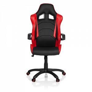 Image De Hjh OFFICE Chaise Gaming Bureau RACER PRO I Simili Cuir Noir