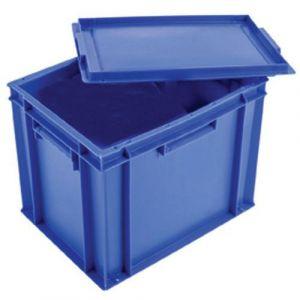 Gilac Bac plein 27 L avec couvercle - bleu,