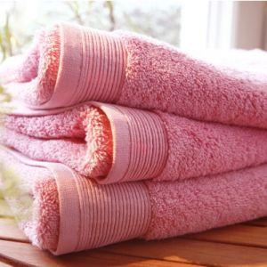 Blanc des vosges Eponge unie Gant Coton Bois de Rose 16x22 cm