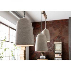 Kare Design Suspension béton et bois Dining Concrete L120 cm
