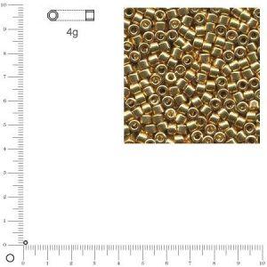 Rayher Miyuki Delicas 11/0 métallique - Or DB0410 - 4 g