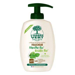 Image de L'Arbre Vert Bien être Crème Lavante Mains Menthe-Basilic Bio - 300ml
