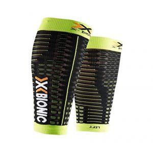 X-Bionic Spyker Competition Calf Black / Acid Green Man L Manchons de compression