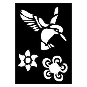 Pochoir adhésif Oiseau colibris