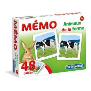 Clementoni Mémo animaux de la ferme