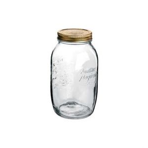 Bormioli Rocco Set de 6 bocaux / pots à conserve 1,5 L en verre avec couvercles 86mm - Quattro Stagioni