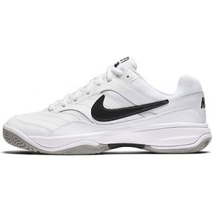 Nike Court Lite, Chaussures de Tennis Homme, Blanc (White/Black/Medium Grey 100), 42.5 EU