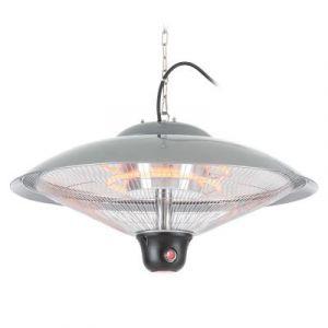 Duramaxx Réglette Chauffante Plafonnier Radiant 60,5 Cm (Diam) Télécommande Lampe Led