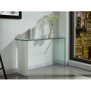 826d9afc72b2c Console laque blanc et verre - Comparer 36 offres