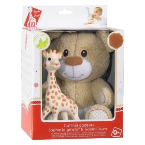Vulli Set peluche Gabin l'ours et Sophie la girafe