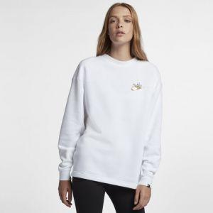 Nike Sweat métallisé Sportswear Rally pour Femme - Blanc - Taille XS