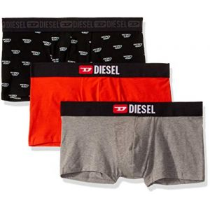 Diesel UMBX-DAMIENTHREEPACK, Slip Homme Multicolore (Black/Orange/Dark Grey Melange E4899-0Naxj) XL (Lot de 3)