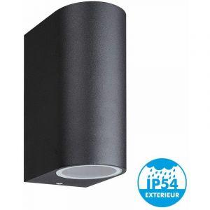 Arum Lighting Applique Murale MONICA noir extérieur double faisceau GU10 IP44