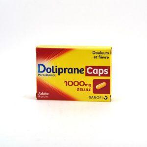 Sanofi Doliprane Caps 1000 mg - 8 gélules