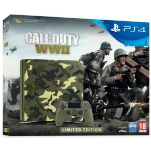 Sony PS4 1To Camo Design + Call of Duty World War II Deluxe Edition + Qui-es-tu ?