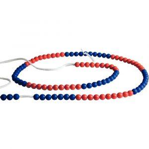 Wissner Chainette de 100 boules rouges / bleues