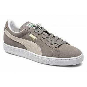 Puma Suede Classic+ - Baskets mode - Mixte Adulte - Gris (Grey/White 66) - 45 EU