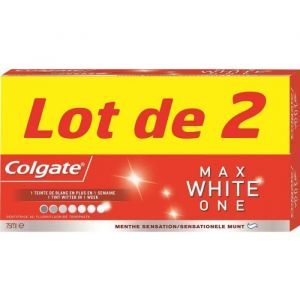 Colgate Lot de 2 dentifrices Max White ONE - 2x75 ml
