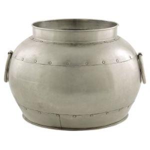 Aubry Gaspard Cache-pot rond en métal