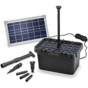 Esotec Kit pompe solaire bassin avec filtre Fountain Pro 380L-8W