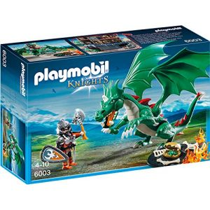 Playmobil 6003 Knights - Chevalier avec grand dragon vert