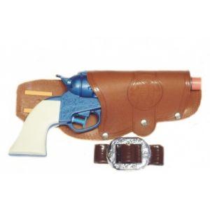 514f8469e8fd NET TOYS Holster Revolver Cowboy Porte-Pistolet Sheriff Marron Ceinture  Western Poche pour Pistolet Costume Cowboy