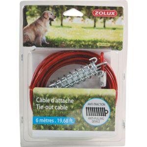 Muscat Câble d'attache et ressort pour chien 6 m