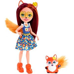 Mattel Poupée Enchantimals Felicity renard et Flick