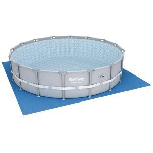 Bestway Tapis de sol pour piscine ronde - 520 x 520 cm - Bleu