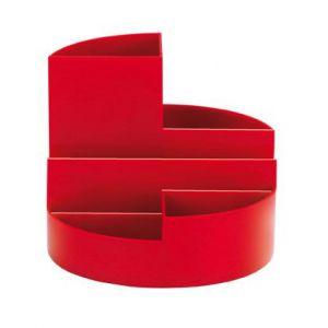 Maul 41176-25 - Organisateur de bureau MAULrundbox, coloris rouge