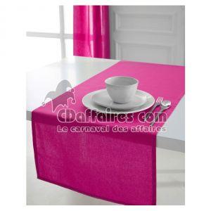 Today Myrtille - Chemin de table en coton (50 x 150 cm)
