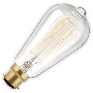 Calex Ampoule à filament vintage 40W claire culot baïonnette B22 135mm