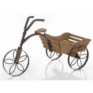 Image de Vélo porte plantes décoratif en bois 70 x 30 x 39 cm